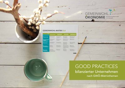 Titelbild der Best Practice-Broschüre der Gemeinwohl-Ökonomie